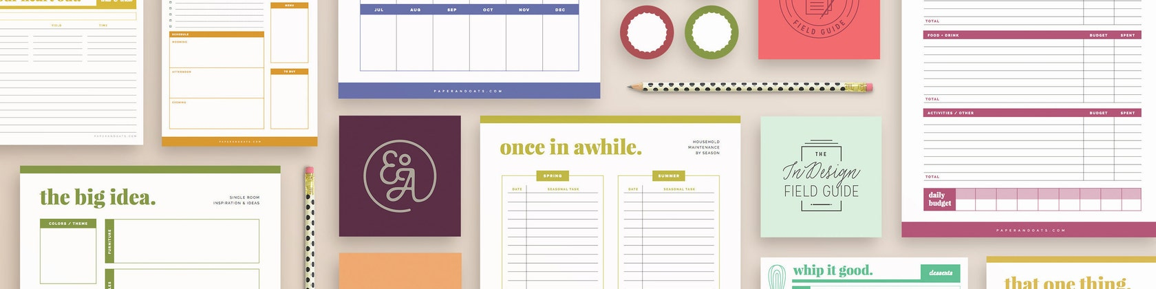Printable planners organizers for home business by paperandoats paperandoats fandeluxe
