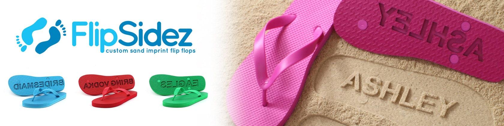 be2856be05cd Custom Sand Imprint Flip Flops by FlipSideFlipFlops on Etsy