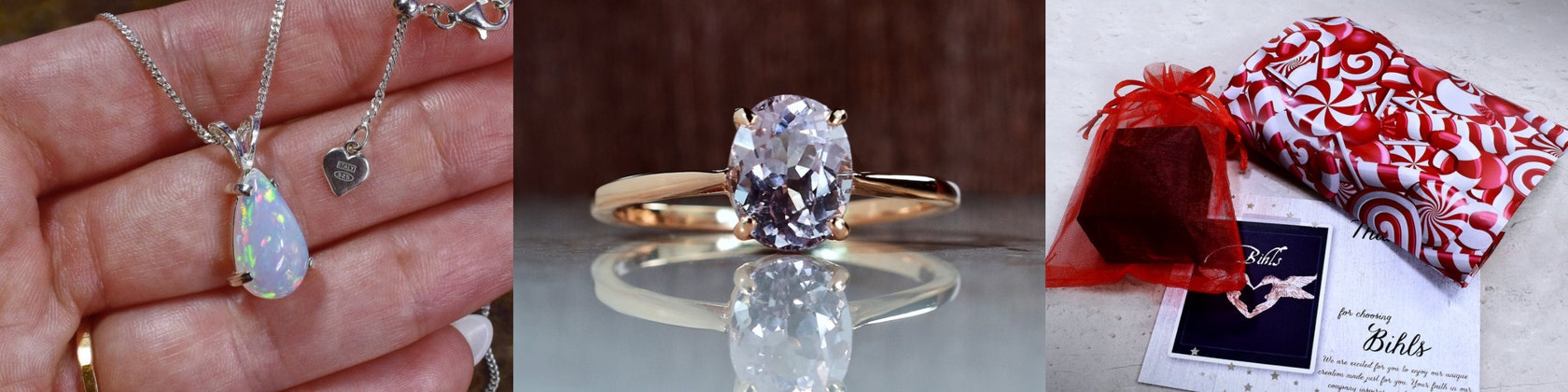 14Kt Or Rose Opale /& Diamant Trillion Collier Pendentif