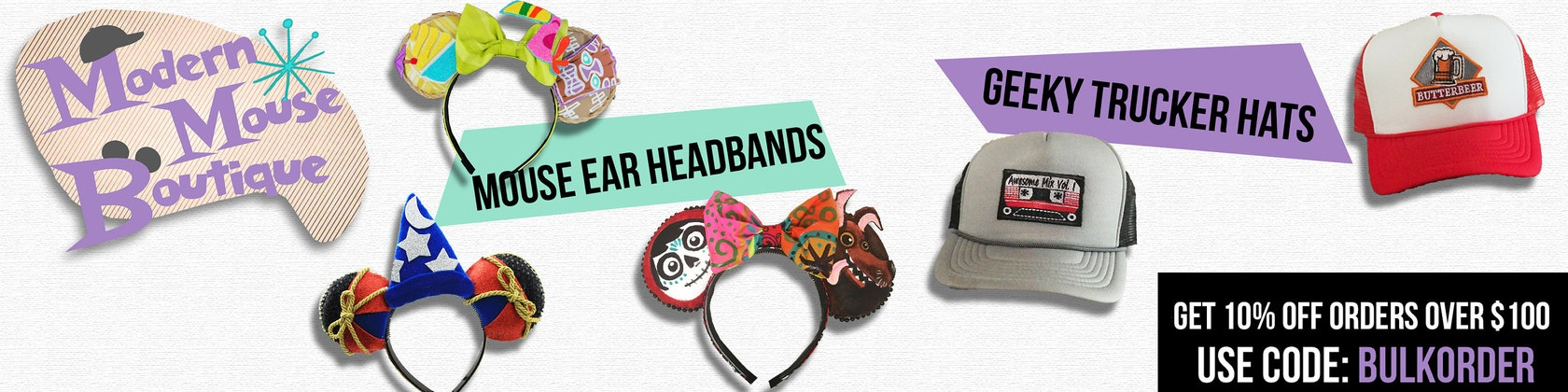 dcc806dadff Original Mouse Ear Headbands and by ModernMouseBoutique on Etsy