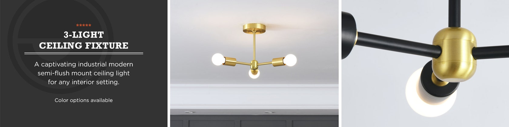 BONNIE Mid Century Industrial Ceiling Flush Mount 1 Light Gold Wall Sconce With Glass Bowl Shade For Modern Bathroom Vanity /& Hallway