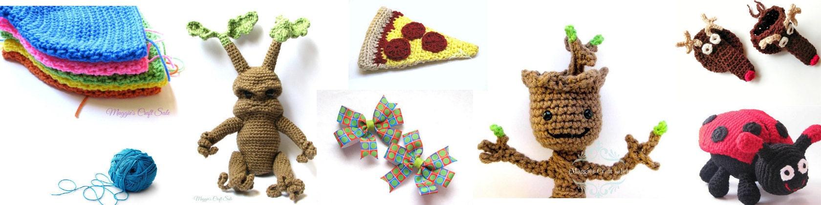 Crochet Baby Items Toys Bows Scarfs & More por MaggiesCraftSale