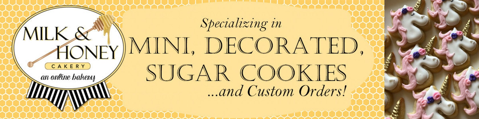 Custom Made Decorated Sugar Cookies and by MilkandHoneyCakery