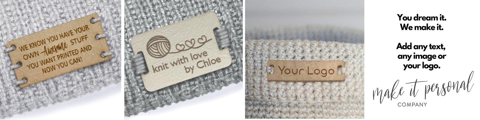 Personnalisé en bois de noyer Cercle tags 30 mm en bois fait à la main Vêtements Crochet