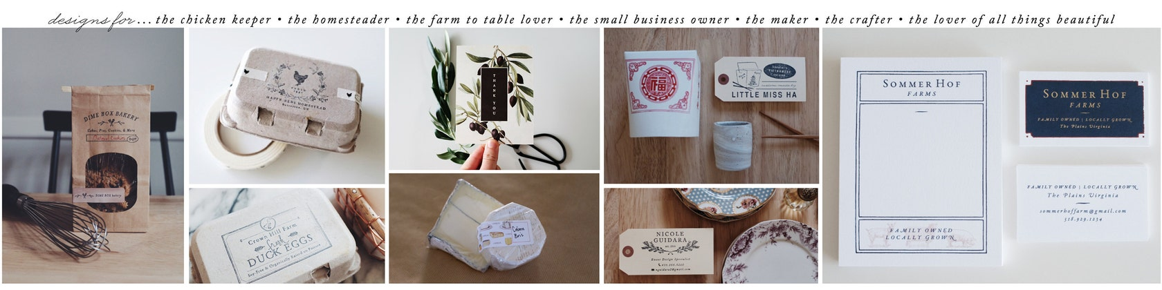 Graphic Design Rubber Stamps Packaging & por SubstationPaperie