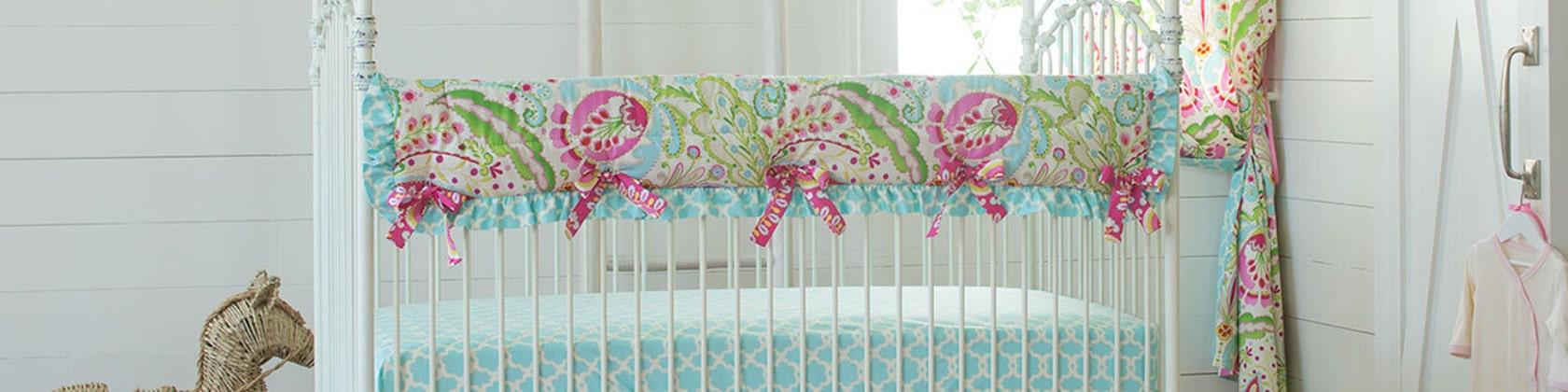 Baby Bedding Fabric And Nursery Décor, Purple Elephant Mini Crib Bedding