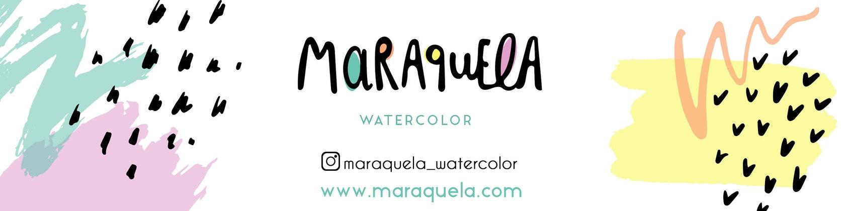 Acuarelas Ilustraciones & cojines decorativos únicos. por Maraquela