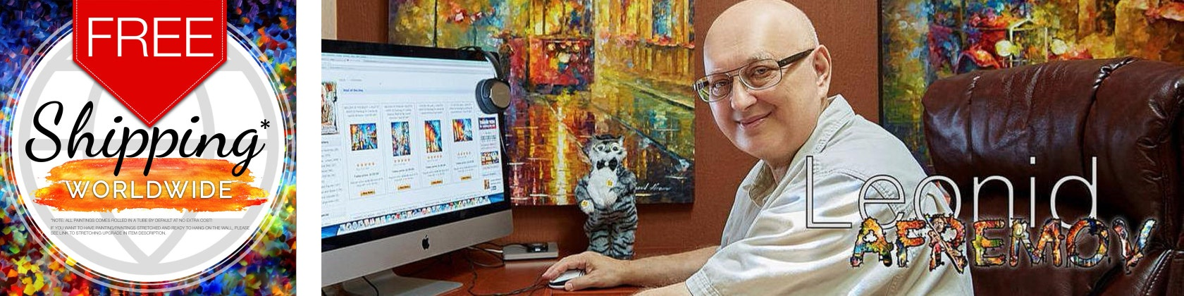 Leonid Afremov Oil Paintings Amp Prints The By Afremovartstudio