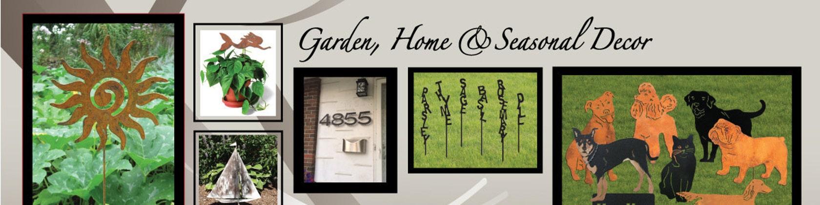 Custom Metal Art for the Home Garden & by RusticaOrnamentals
