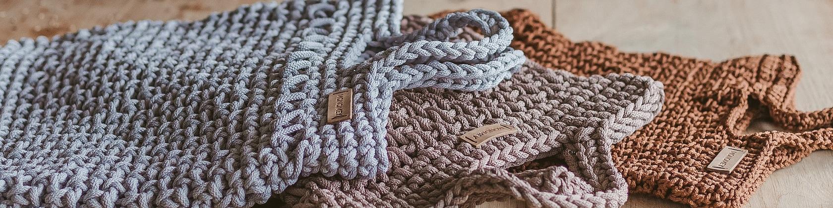 e7c410f5dd Macrame cord crochet baskets totes crochet di MonoMeyStudio