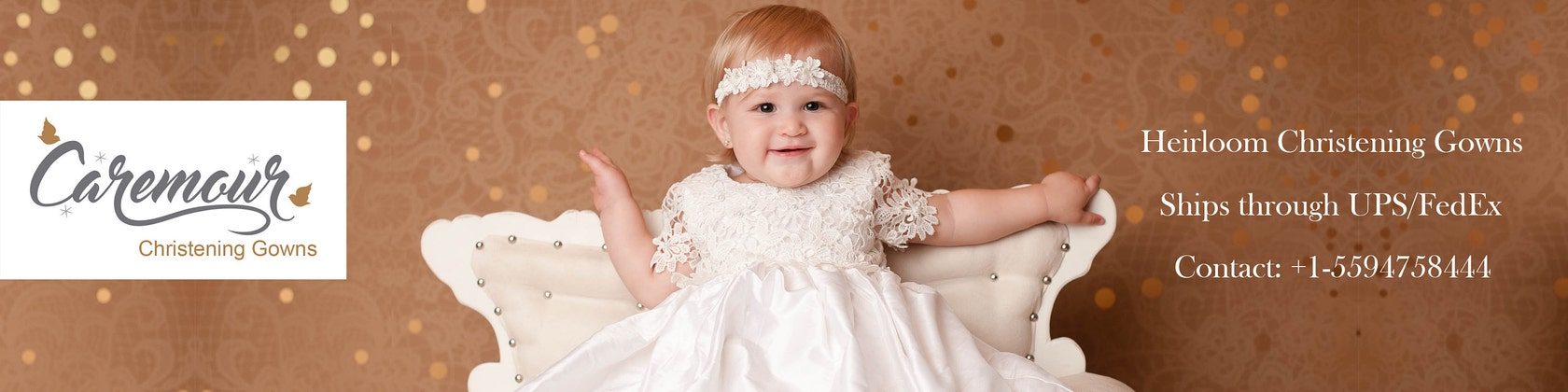 Exquisite Christening Gowns Handmade with Love by Caremour on Etsy