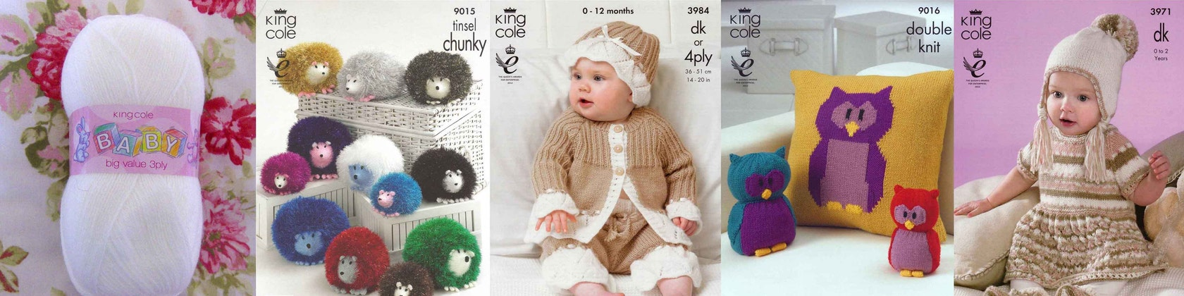"King Cole Knitting Pattern 2821~Mix /& Match Jackets//Sweaters//Cardigans~DK~12-24/"""