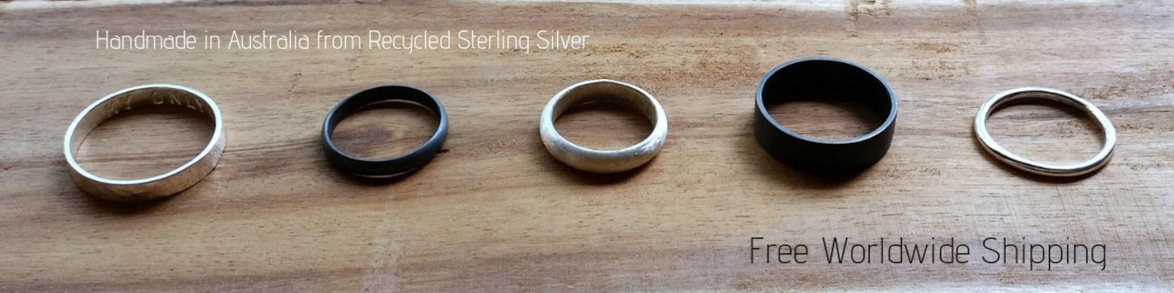 Other Fine Rings Da Uomo Argento Sterling 925 Bicolore Anello Croce Modern Design