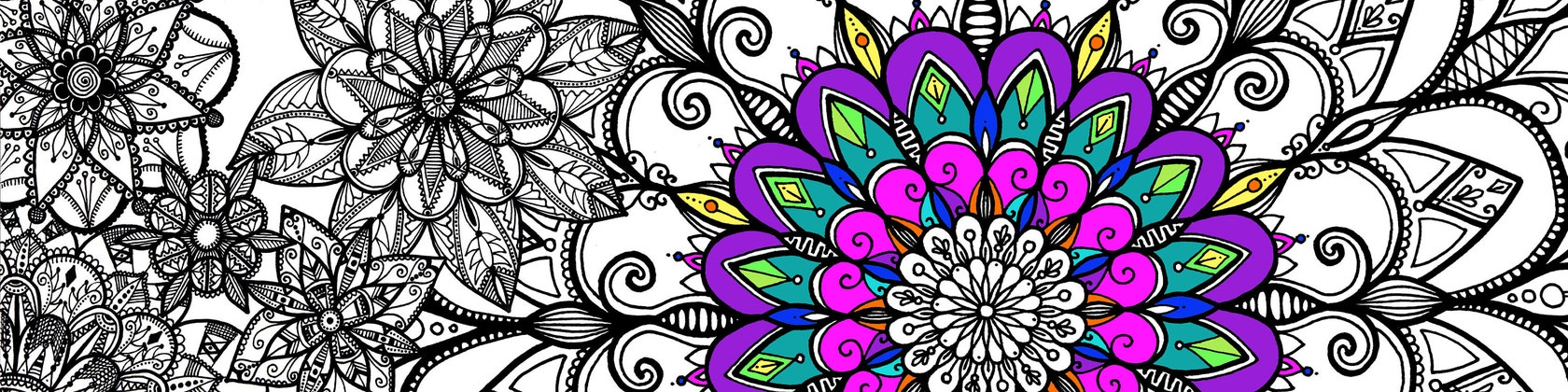 Coloriage Fleur Tps.Creations Joelle Mercier Ze Sklepu Creationsjmercier Na Etsy