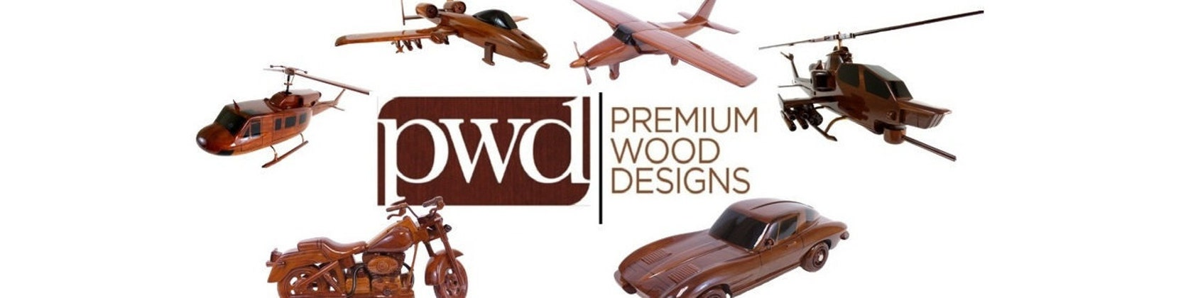 Ships within 48 hours P51 Mustang Mahogany Wood Desktop Airplane Model