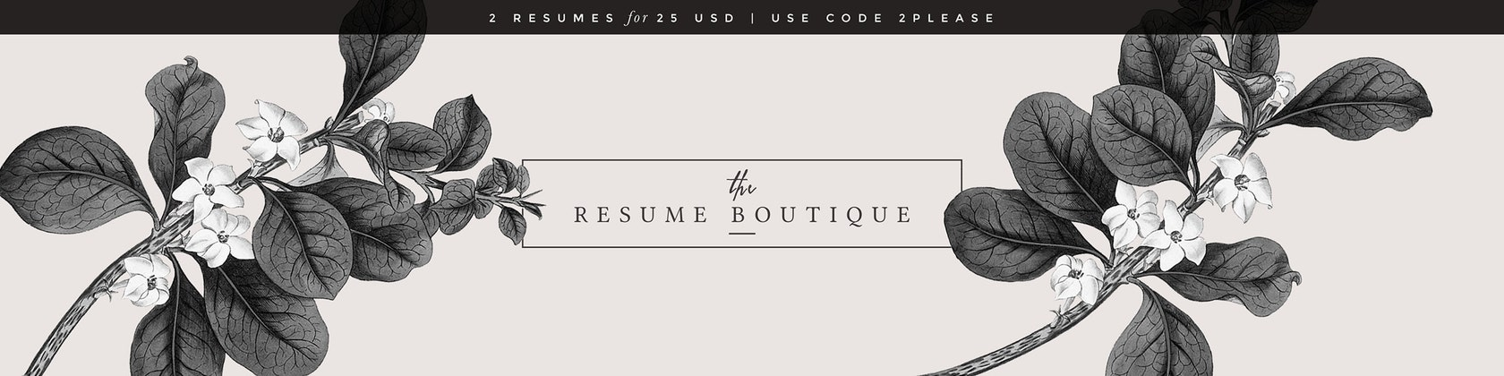 TheResumeBoutique The original Etsy shop for modern