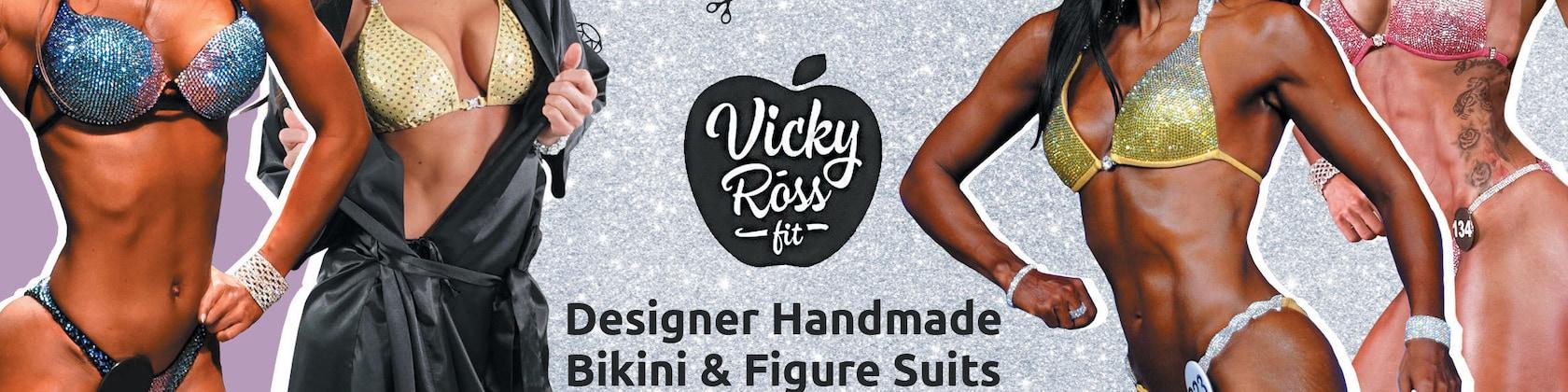 437562ba57 Designer Competition Bikini Figure Suits Swimwear by VickyRossFit