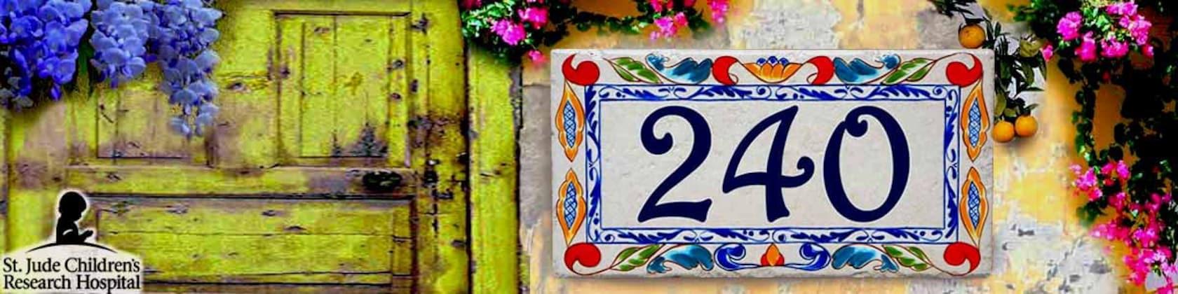 House Numbers Decorative Ceramic Porcelain von BeachStudio7