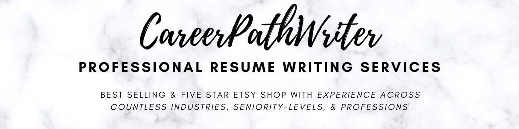 Professional Resume Writing Services By Careerpathwriter On Etsy