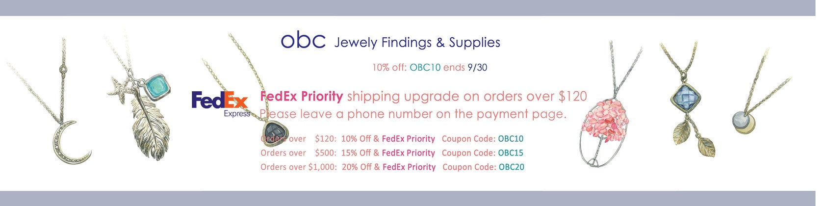 Handmade Jewelry Findings & Supplies Coupon: OBC10 von OBCsupply