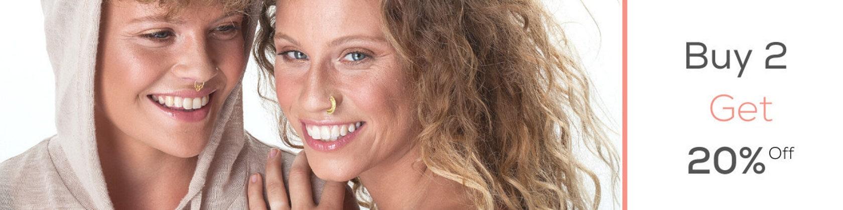 Septum Anneau HELIX Piercing Gold Nose Ring Fait Main 20 G//Cartilage Boucle d/'oreille