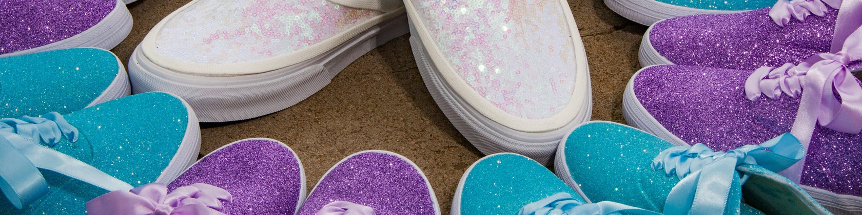Princess Pumps: Custom Sequin Wedding Shoes & von princesspumps