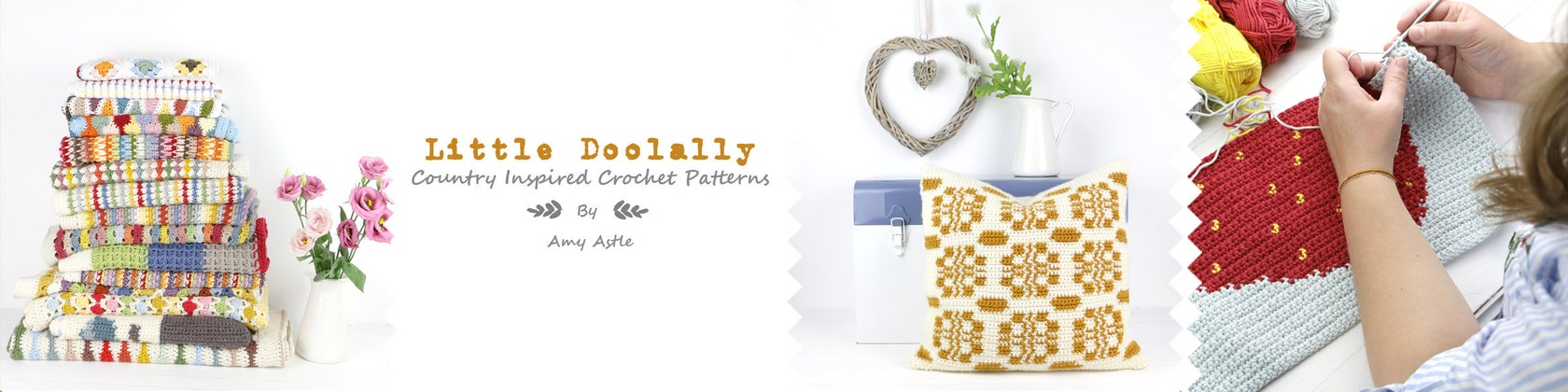 Country style modern vintage crochet patterns von littledoolally littledoolally fandeluxe Image collections