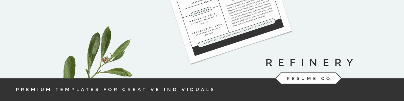Premium Resume Templates With Character By RefineryResumeCo