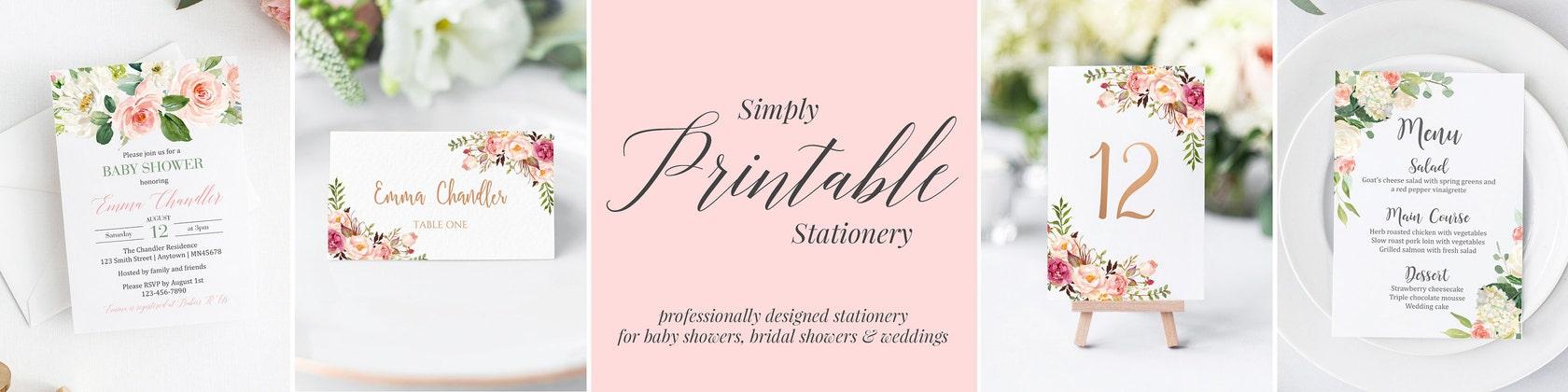 Simply Printable Stationery von simplypstationery auf Etsy