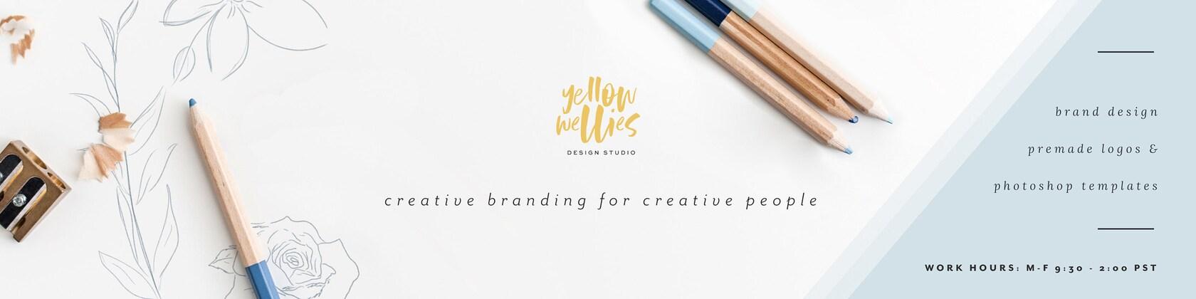 Logo Design Branding Photoshop Templates Par YellowWelliesDesigns