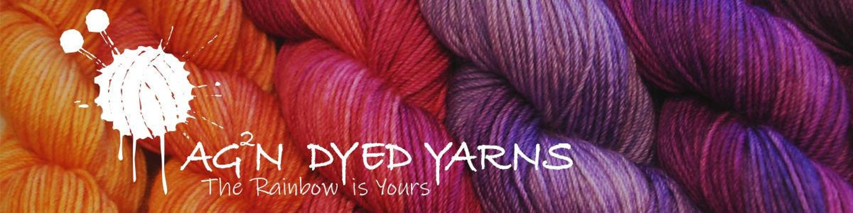 Variegated AG2N Speckled Hand Dyed Yarn Sprinkles Colorway A Guy Two Needles A Rose by any other Name...