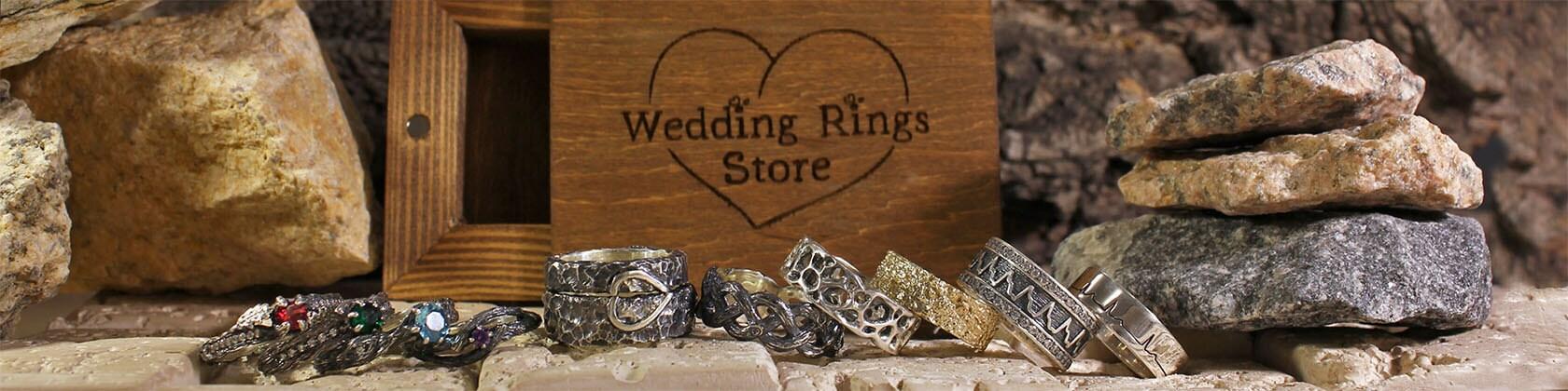 Handmade Unique Wedding Rings By Weddingringsstore On Etsy