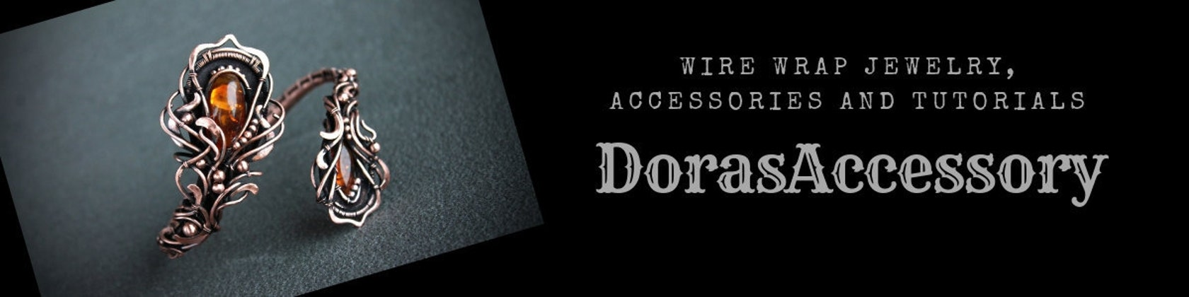 Wire wrapped jewelry hair accessories and von DorasAccessory