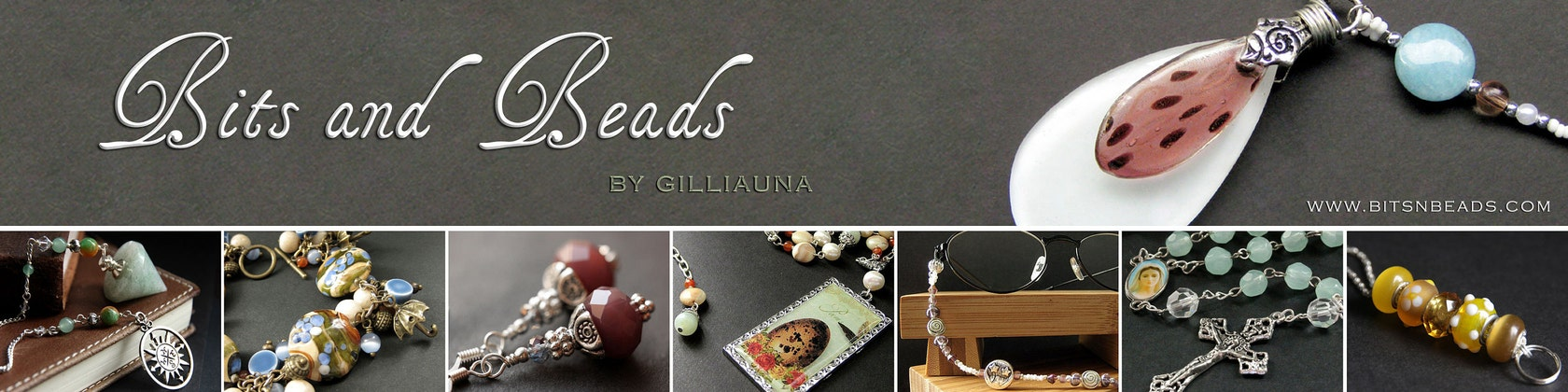 Floating Peonies Lampwork Glass Beaded Earrings Handmade Jewelry by Gilliauna