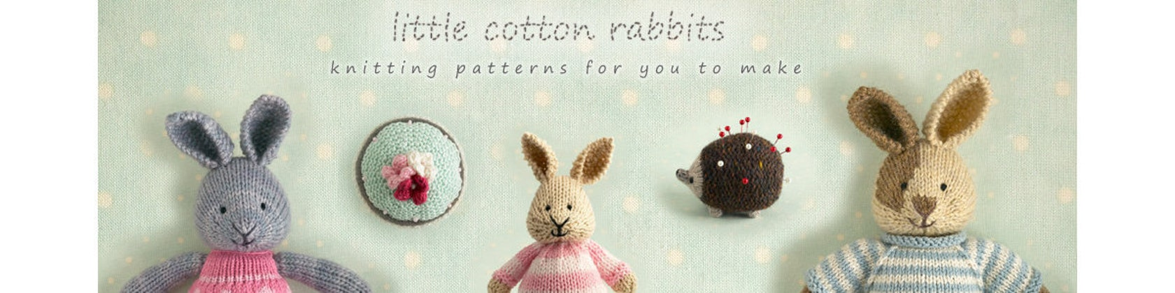 sweetly detailed toy animal knitting von Littlecottonrabbits