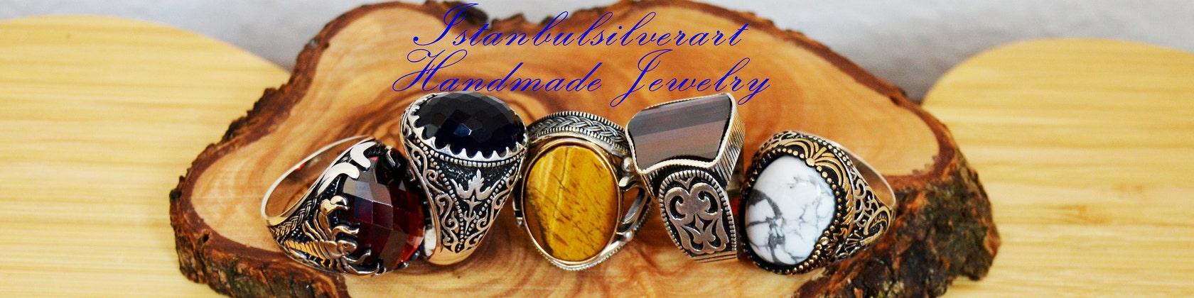 Turc fait main EMERALD Sterling Silver 925K Anneau Taille 6 7 8 9 10