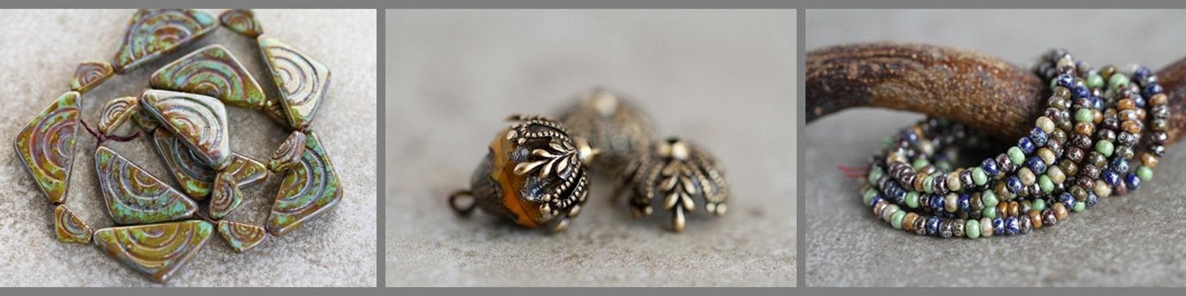 602982bb0410 Czech glass beads professional quality de BeadsandmorebyYashma