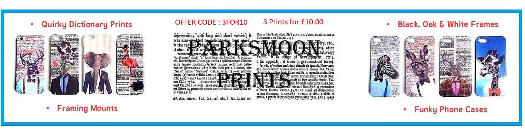 We design quirky dictionary prints & phone von ParksMoonPrints