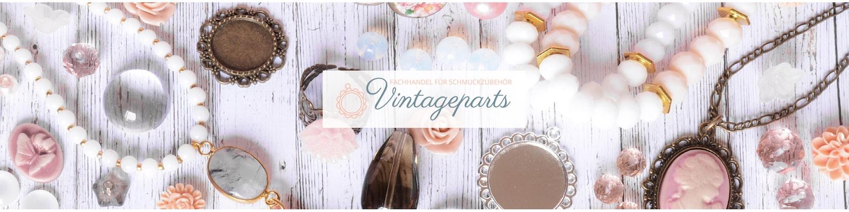 Vintageparts DIY perlas de nácar consigue en rosa 6 mm 5 gramos