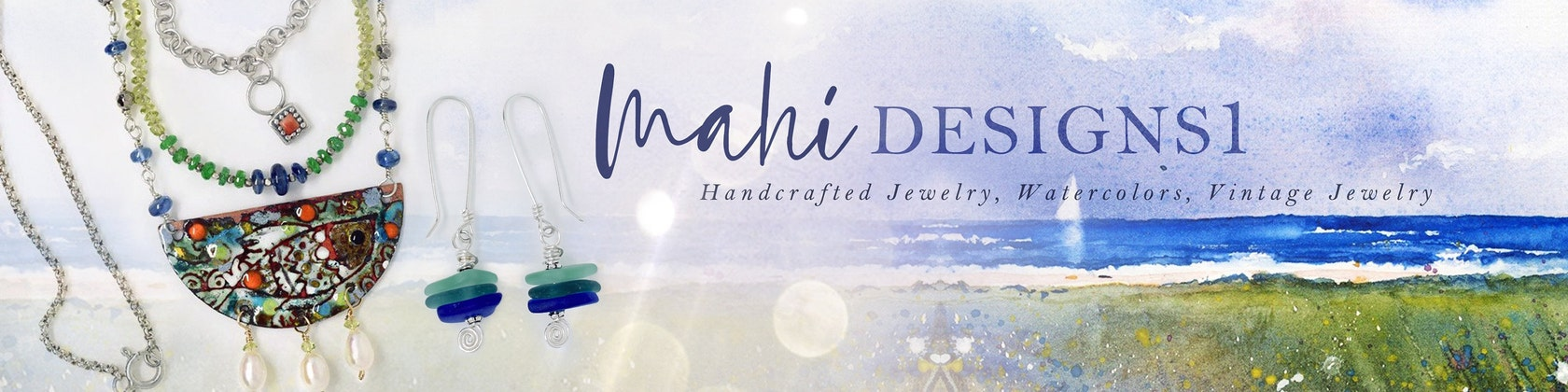 47854bdeb Handcrafted and Vintage Jewelry Watercolors Charms by MahiDesigns1