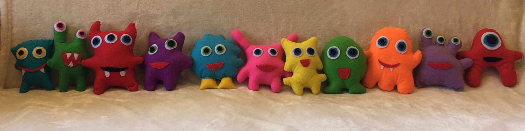 a6df3b577fb7e Snuggly monster toys by Snugables on Etsy