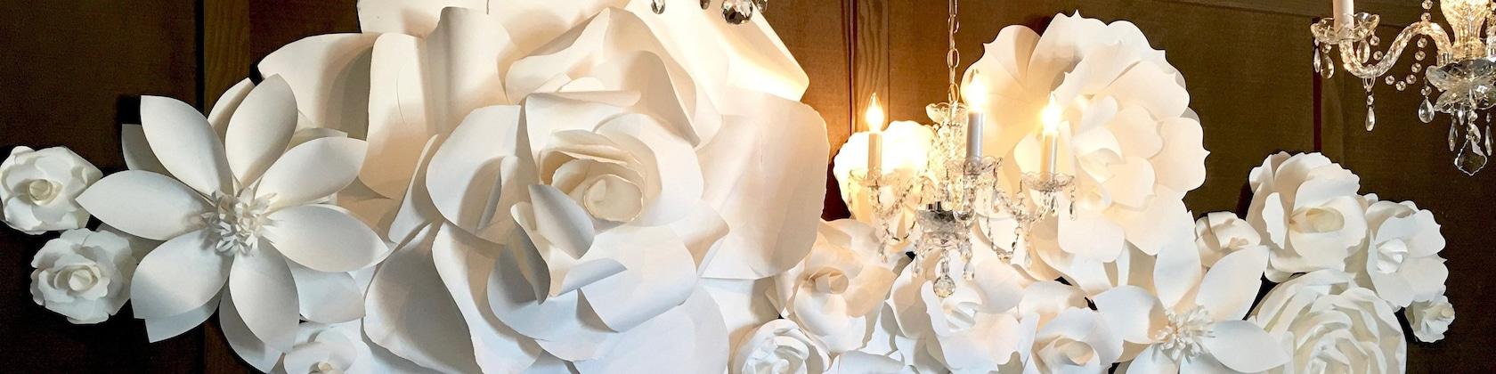 The Jade Package  paper flowers for bedroom  large paper flowers  made with quality paper