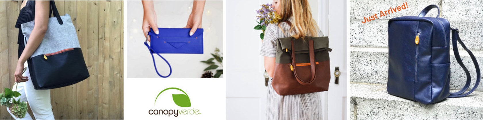 160bbf697bf4 Eco & Vegan Backpacks Wallets & Bags from Brooklyn by CanopyVerde