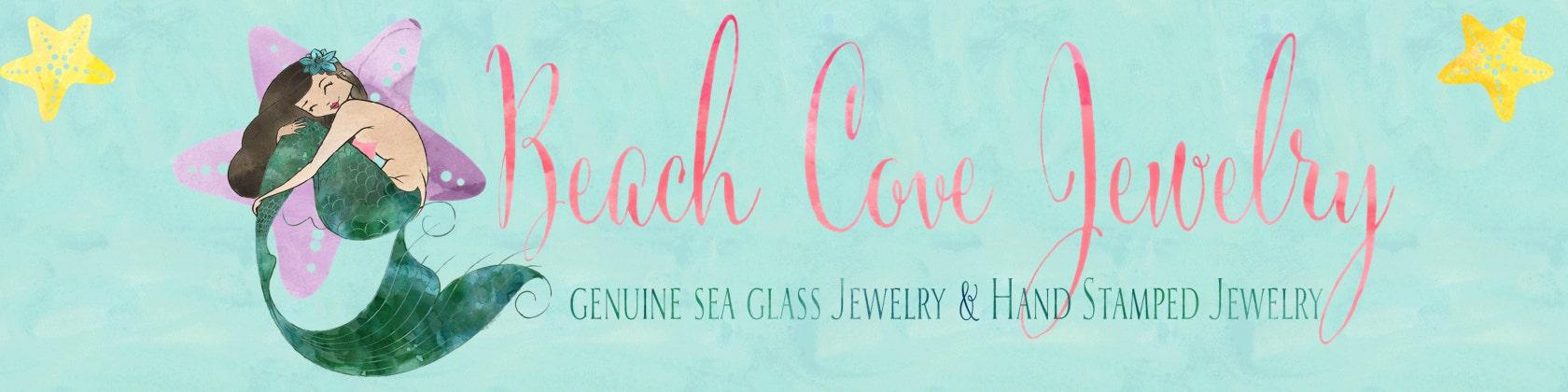 1daf0d8ab09880 Genuine Sea Glass Jewelry & Hand Stamped by BeachCoveJewelry