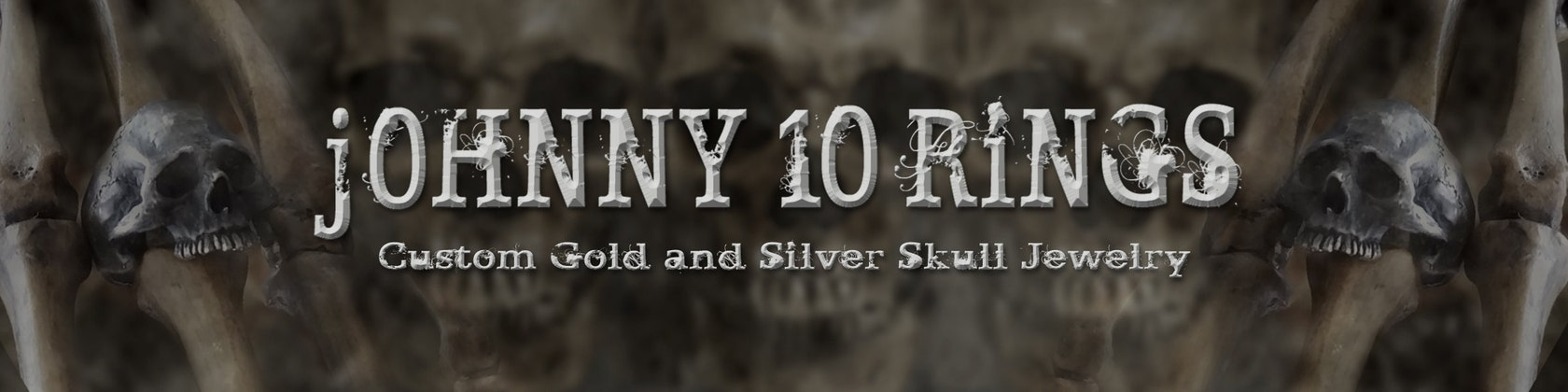 aec526e93911 Custom Gold and Silver Skull Jewelry de Johnny10Rings en Etsy