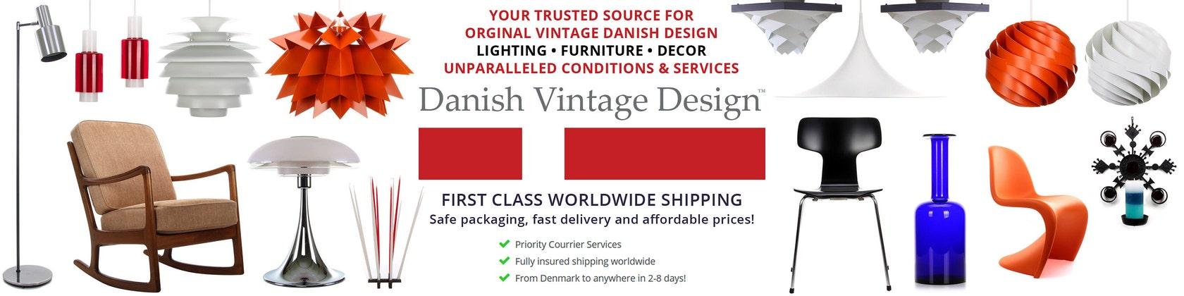 Mid century Danish design lighting by DanishVintageDesigns