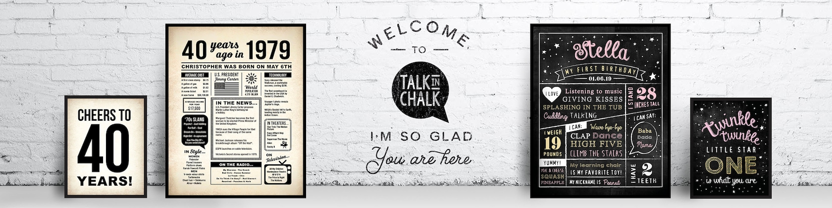 Printable Posters for Life's Special Occasions by TalkInChalk