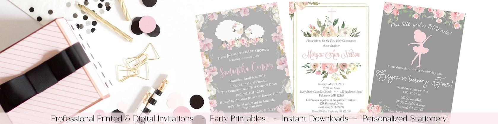 Printed   Digital Invitations   Party Decor di Marbella1Printables 541a589b50c6