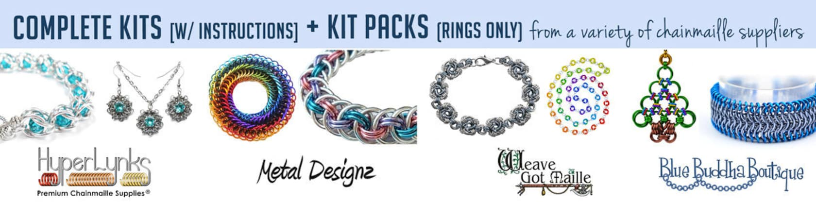 Chainmaille Tutorials Kits Learn To Make By Bluebuddhaboutique