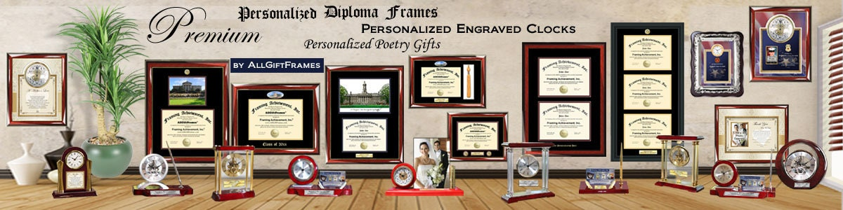 San Diego State Diploma Frame with photo and wood frame Cherry, Walnut